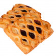 Pie with berry filling isolated — Stock Photo