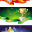 Vector set with winner banners — Stock Vector #11048702
