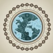Royalty-Free Stock Vector Image: Globe with social media icons