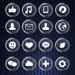 Set with social media icons — Stock Vector
