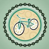 与自行车卡 — 图库矢量图片