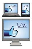 Set di icone techology con come segni — Vettoriale Stock