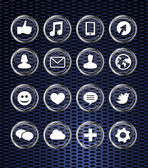 Mit social-Media-Icons Set — Stockvektor