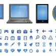 Stock Vector: Vector computer icons