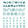 set van vector technologie pictogrammen — Stockvector
