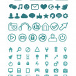 Stok Vektör: Set of vector technology icons