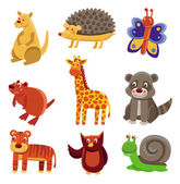 Cute cartoon animals — Stock Vector