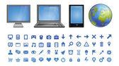 Ikony komputerowe wektor — Wektor stockowy