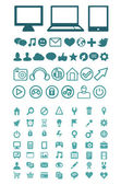 Set of vector technology icons — Stock Vector