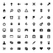Ensemble de 56 icônes vectorielles — Vecteur
