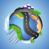 Vector travel concept — Stock Vector