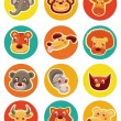 Vector funny animal heads — Stock Vector #11489083