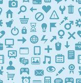 Patrón sin costuras vector con iconos de tecnología — Vector de stock