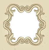 Vintage frame with copy space for text — Stock Vector