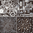 Royalty-Free Stock Imagen vectorial: Set of retro seamless patterns