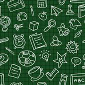 Wektor wzór z edukacji ikony — Wektor stockowy