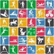 Seamless pattern with sport icons - Stok Vektör