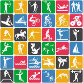 Seamless pattern with sport icons — Stok Vektör
