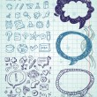 Set of vector doodles - Stock Vector