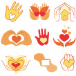 Vector collection of love signs - Stock Vector