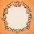 Vector round frame in vintage style — Stock Vector