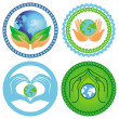 Set of ecology emblems — Stock Vector #12226271