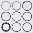Vector collection with circle frames — Stock Vector #12226277