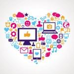 Vector social media concept — Stock Vector #12226282