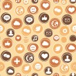 Vector seamless pattern with social media icons — Stok Vektör