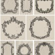 Stock Vector: Set of vintage frames and design elements