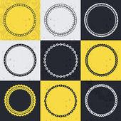 Vector collection with circle frames — Stock Vector