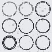 Vector collection with circle frames — Stock Vector