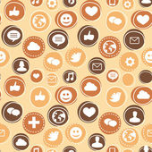 Vector seamless pattern with social media icons — Cтоковый вектор