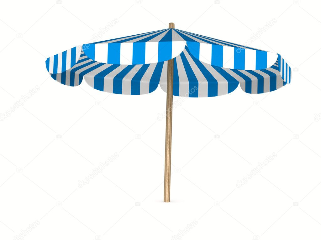 Parasol on white background. Isolated 3D image  Stock Photo #11440891