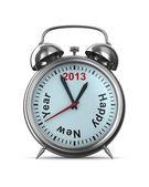 2013 year on alarm clock. Isolated 3D image — Stockfoto