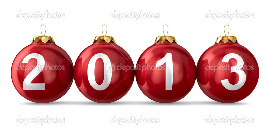 Christmas decoration on white background. 2013 year. Isolated 3D image — Stock Photo #12410478