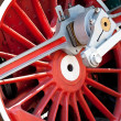 Red wheel - Stock Photo