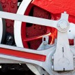 Old red wheel — Stock Photo