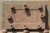 Rusty metal hatch — Stock Photo