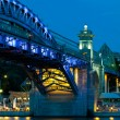 Andreevsky  Bridge in to night - Foto Stock