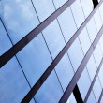 Windows of office building — Stock Photo