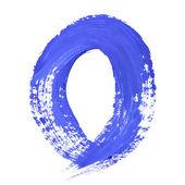 Blue handwritten letters — Stock Photo