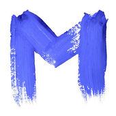 Blauwe handgeschreven brieven — Stockfoto