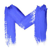 Cartas manuscritas azules — Foto de Stock