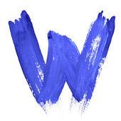 Letras manuscritas azuis — Foto Stock
