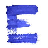 Modré ručně psané dopisy — Stock fotografie