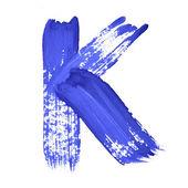 青の手書き文字 — ストック写真