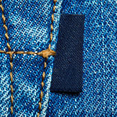 Jeans label — Stock Photo