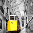 Lisbon's funicular - Stock Photo