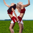 Two beauty cheerleader - Stock Photo